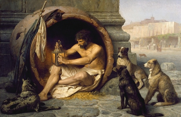 Diogenes in his tub