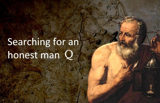 Featured Image: Diogenes searching for an honest man