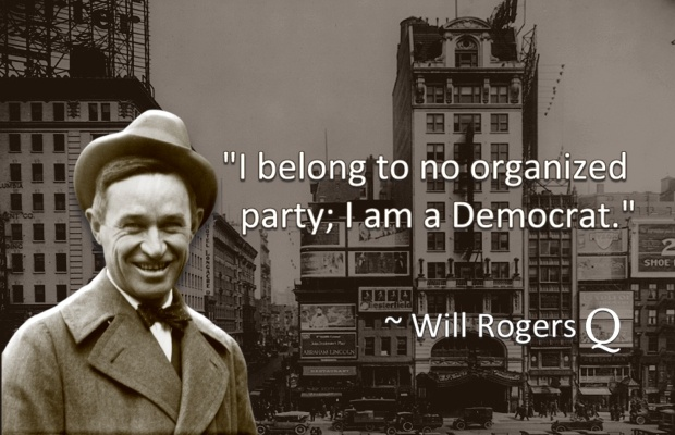 Featured Image: Will Rogers' quotes on being a Democrat